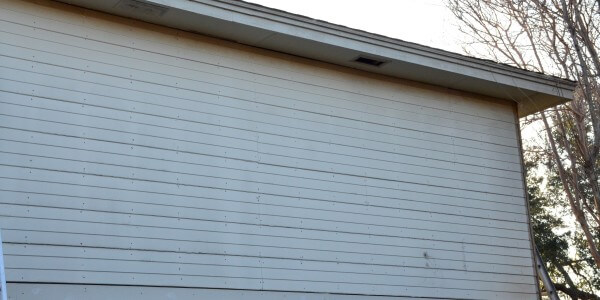 House siding project - before installation