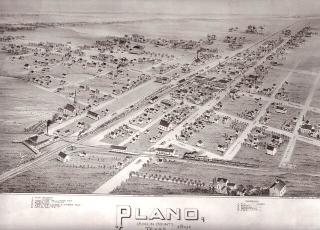 Map of Plano 1891